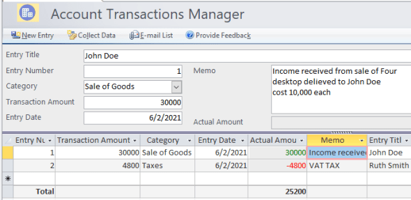 Account Manager Template