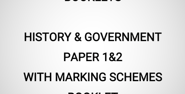 2020 Mock History & Government Paper 1&2 Booklet (With Marking Schemes)