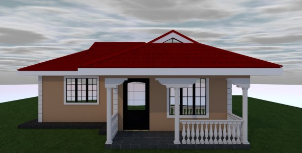 One Bedroom Bungalow House Plan