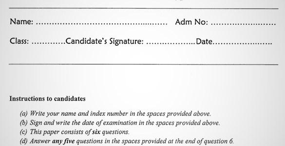 Maranda Christian Religious Education PP1 Form 3