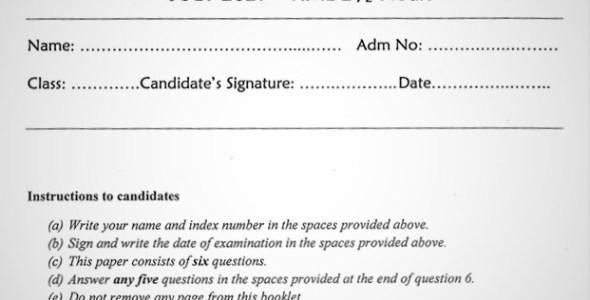 Maranda Christian Religious Education PP2 Form 3