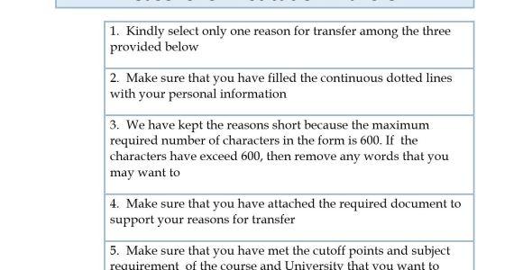 KUCCPS inter institution transfer letter samples