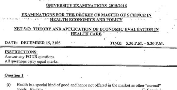 UON Remove term: Msc Health economics Msc Health economics