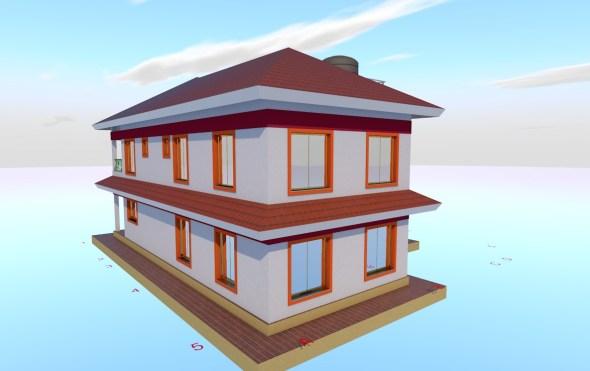 4 Bedroom Mansion House Plan