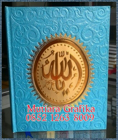 Cetak buku yasin murah cover royal biru toska