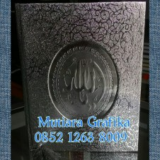 Cetak buku yasin murah cover royal silver