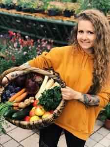 Veganer Einkauf auf dem Markt