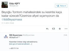 Vatandaş belediye arasında seviyeli iletişim :)
