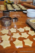 Star pie tops ready to go