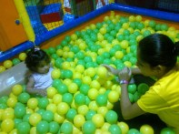 Ball Pool in Toddler area at Funkey Monkeys