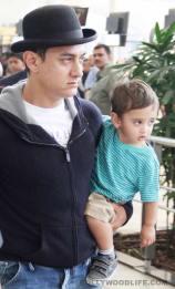 Aamir Khan with his son Azad