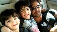Hrithik Roshan with his kids Hrehaan and Hridaan