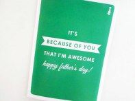Funny Father's Day Card: For you are awesome!