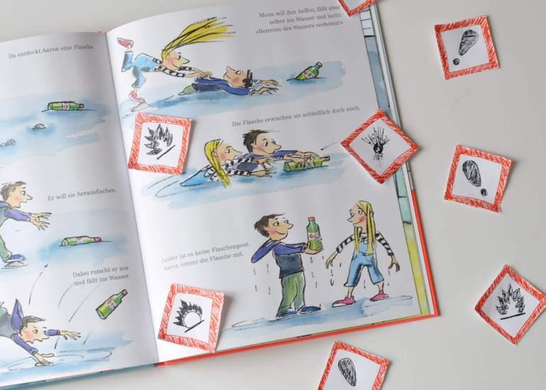 Gefahren richtig erkennen - Buchtipp: Richtig giftig für Kinder ab 5 Jahren #kinderbuch #buch #lesen #vorlesen #gefahren #haushalt #symbole #alltag #lernen