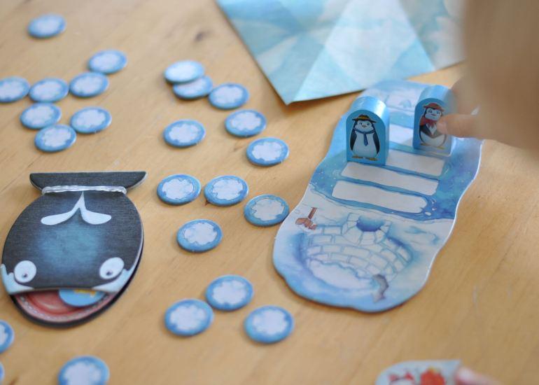 Strategiespiel in kreativer Eisbergwelt - Polar Party für Kinder ab 5 Jahren #spiel #pinguin #eis #wal #spieleabend #familie