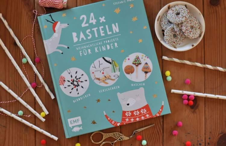 Weihnachtsschmuck aus Papierstohhalmen – Buchtipp 24 x Basteln