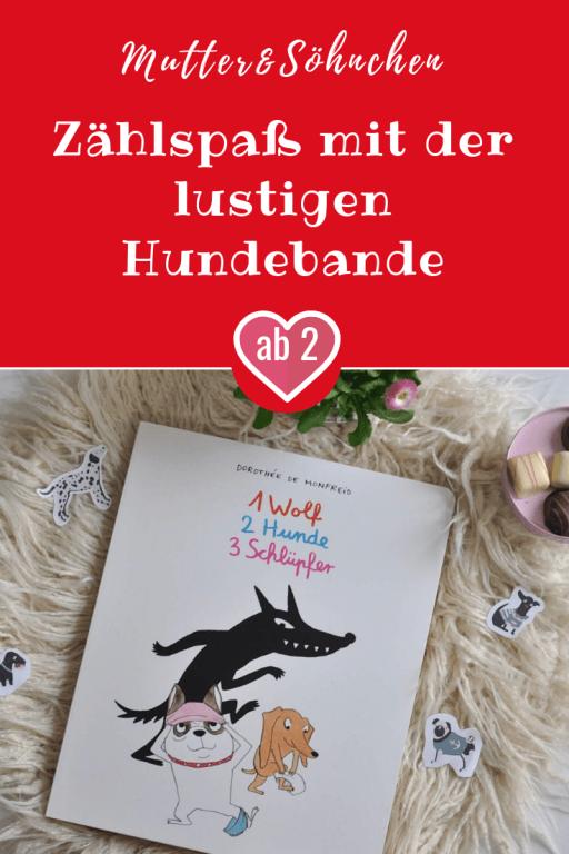 Dieser Comic mit Dorotheé Monfreids Hundebande hat nicht nur ein überraschendes Ende - kleine Kinder lernen damit spielerisch die Zahlen bis 10 sowie diverse Kleidungsstücke kennen. #pappbilderbuch #kinderbuch #lesen #comic #hund #zahlen #zählen
