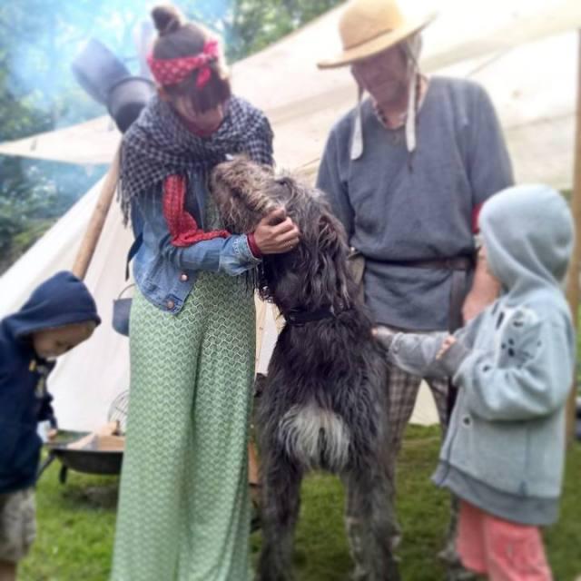 BURGSPEKTAKEL  Grosse Wolfshundliebe auf dem Mittelalterfest in Dillenburg Washellip