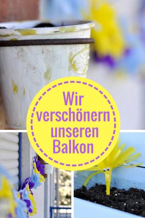 #Werbung - Wir verschönern mit vier kreativen Ideen unseren Balkon - Cheestrings #Käse #Balkon #Tassel #Girlande #Pflanzen #Blumentopf #Acryl #Gardening #DIY