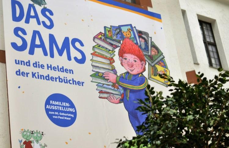 Auftakt zur Sams Ausstellung Kinderbuchhelden in Speyer mit Paul Maar - mehr auf Mutter&Söhnchen