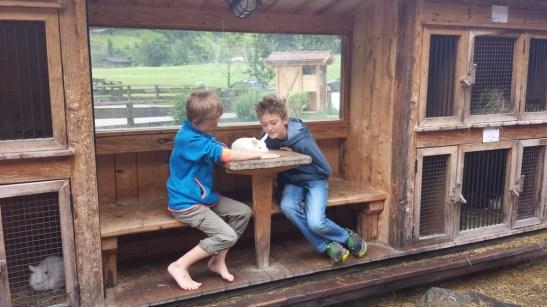 Kinderunterhaltung: Hasen! Kinderfreundliche Holzleb'n Chalets Großarl, Salzburger, Österreich   Urlaub mit Kind, Reisen mit Kind