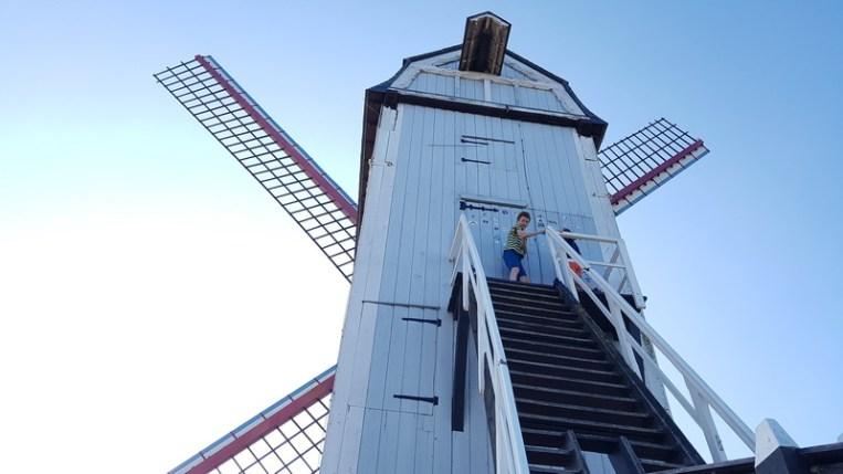 Brügge mit Kind: Windmühlen