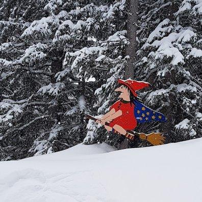 Erfahrungsbericht Skifahren mit Kind am Bewegungsberg Golm, Montafon: Hexenwald