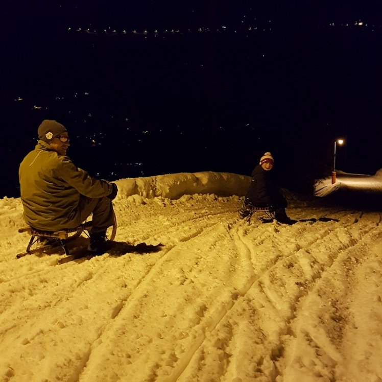 Erfahrungsbericht Skifahren mit Kind am Bewegungsberg Golm, Montafon: Nachtrodeln