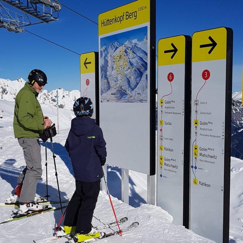 Erfahrungsbericht Skifahren mit Kind am Bewegungsberg Golm, Montafon: Perfekte Orientierung