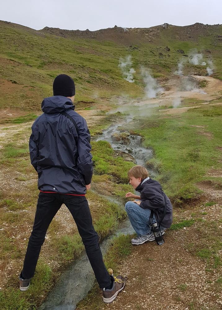 Island mit Kind: Reykjadalur