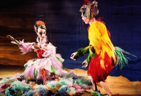 Salzburger Marionettentheater, Papageno und Papagena aus der Zauberflöte (c) Tourismus Salzburg GmbH