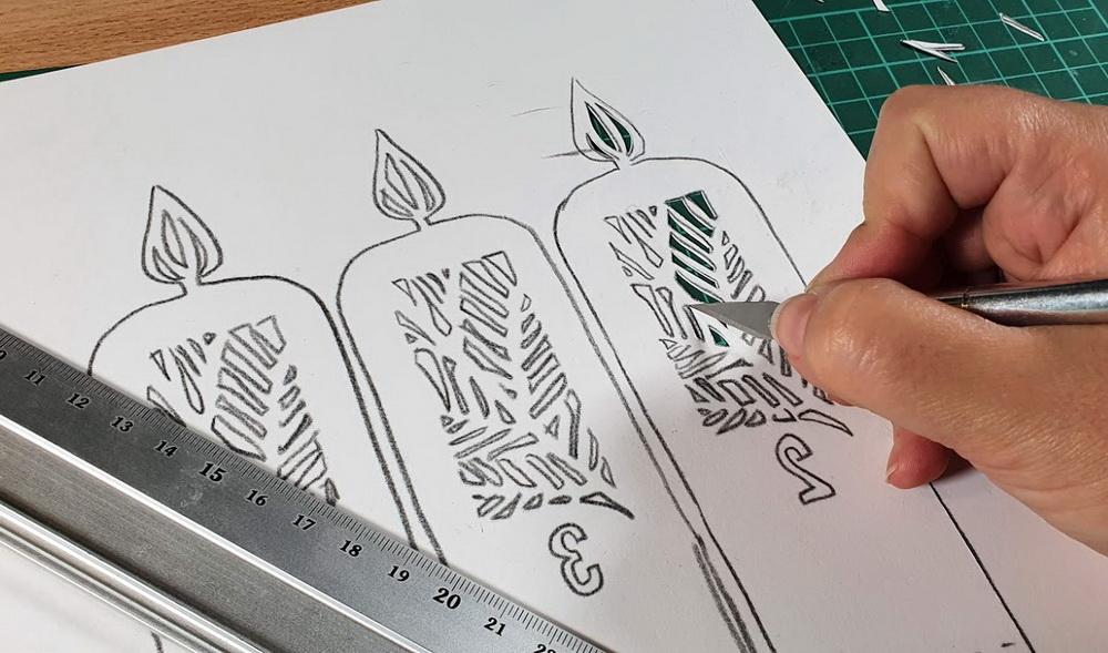 Adventskranz aus Papier Making-of
