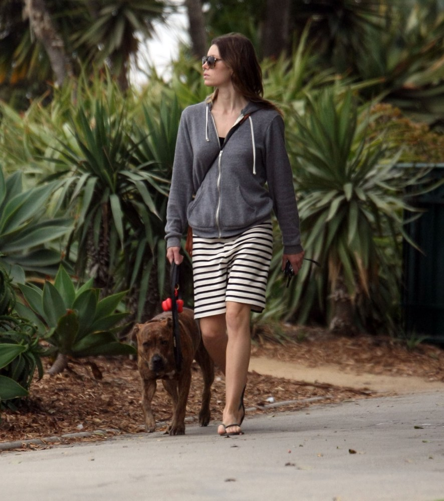 Jessica Biel walks her dog (3/6)