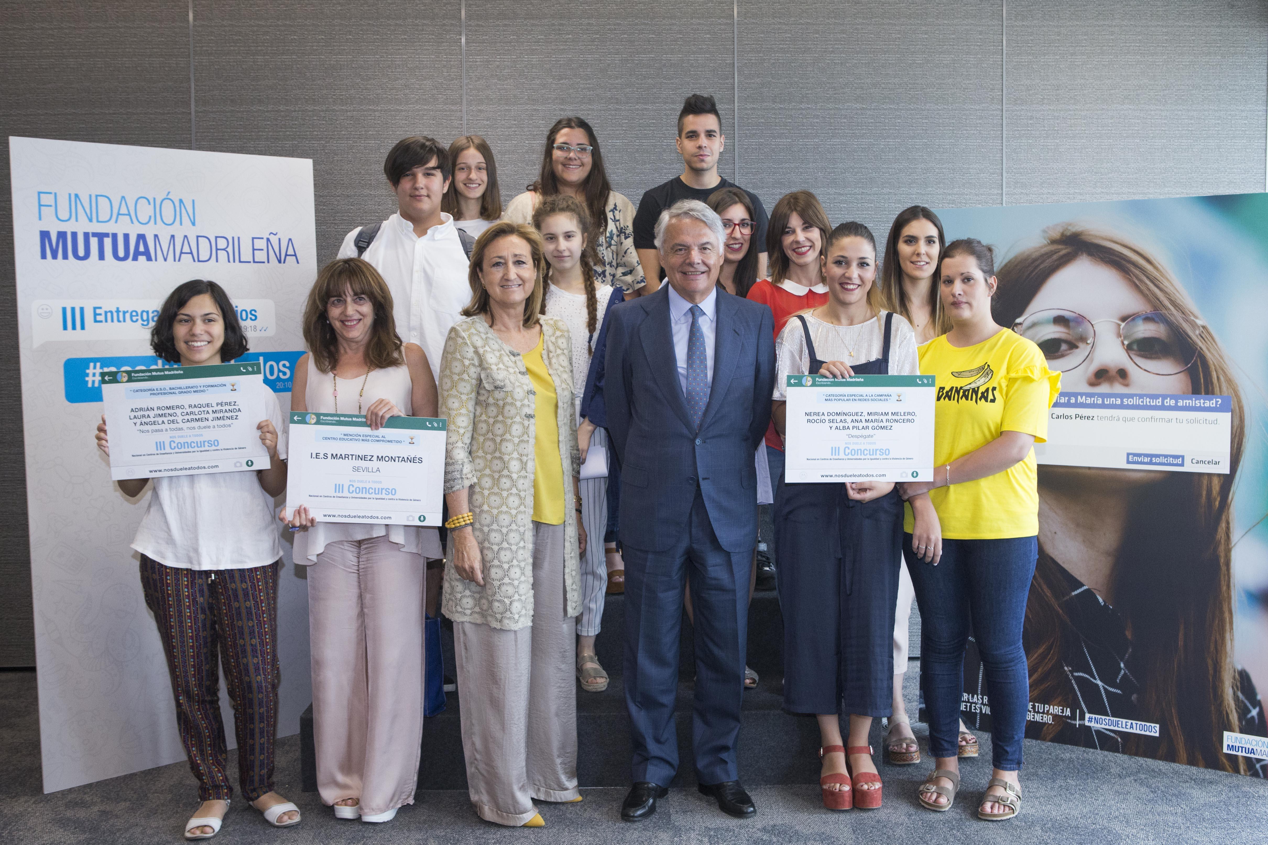 """La Fundación Mutua Madrileña entrega los premios de su concurso """"Nos duele a todos"""""""