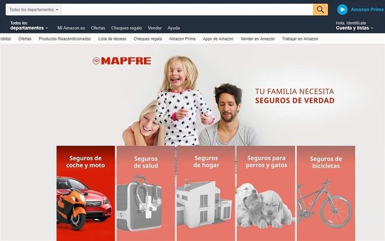 Los asegurados de Mapfre tendrán hasta 10% de descuento en Amazon