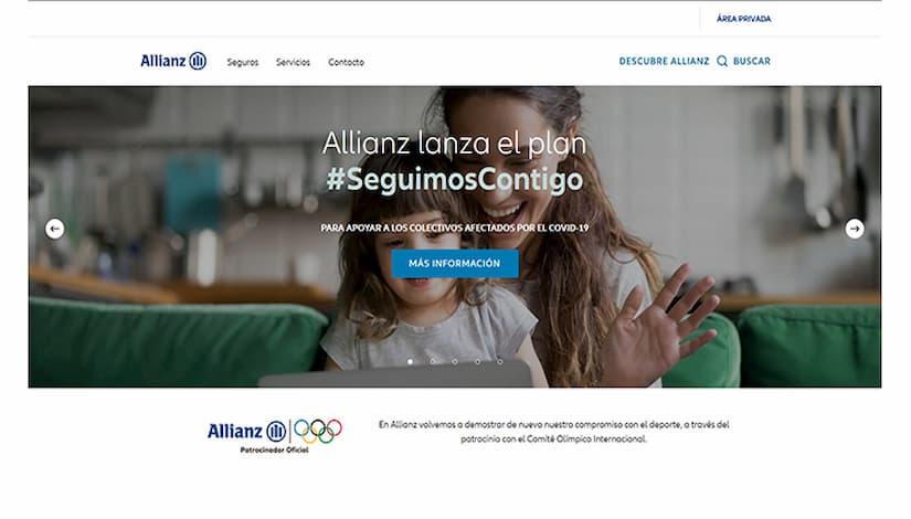 Allianz renueva su web corporativa para mejorar la experiencia online a sus usuarios