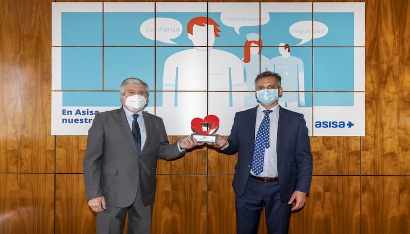"""ASISA recibe la distinción """"España en el corazón"""" por su contribución a la lucha contra el coronavirus"""