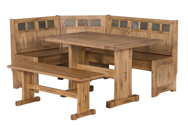 Sedona Breakfast Nook Set W/ Side Bench