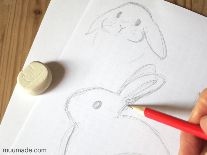 Sketching bunnies