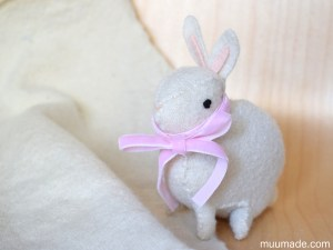 Little Felt Bunny sewing pattern - Muumade.com