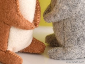 Little Felt Rabbit sewing pattern & tutorial