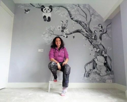babykamer muurschildering laten maken