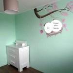 babykamer mintgroen muurschildering