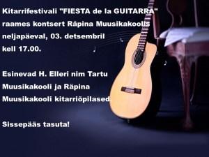 Kitarrikontsert 03.12.2015 Räpina Muusikakoolis