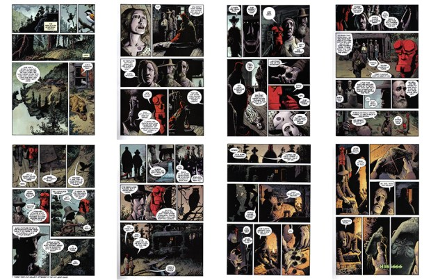 Hellboy: The Crooced Man (the original art plates), Part 1, 24 pgs