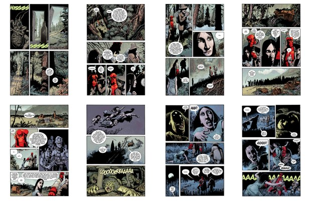 Hellboy: The Crooced Man (the original art plates), Part 2, 23 pgs