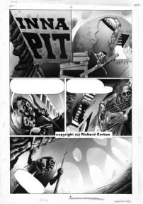 Fantagor Epilogue #1: Inna Pit. Original Art Plate