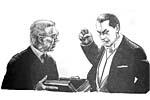Dracula [Bela Lugosi] and Van Helsing