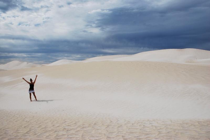 hiekkadyynejä länsi-australiassa