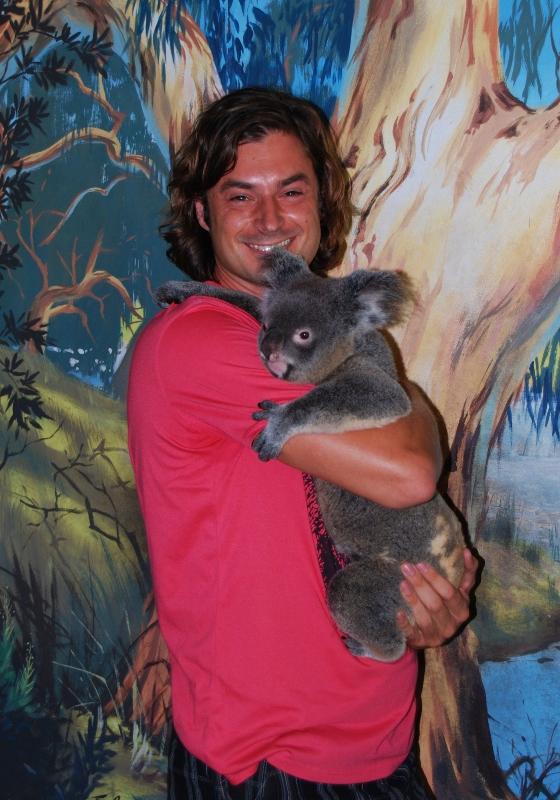Koala sylissä Cairnsin eläintarhassa